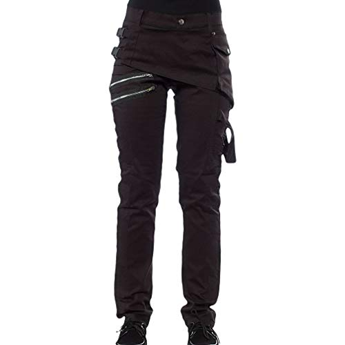 Men Steampunk Denim Jeans With Decent Detail,Pockets,Little Elastic,Slim Fit,Gothic, Punk Rock, Heavy Metal Style. Fashion Straight Leg Pants Is Of Good Quality And Unique In Style. Made Of High Quality Materials, Durable Enough For Your Daily Wearin...