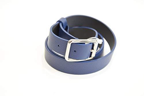 PATRIZIA PEPE Damen Gürtel niedrig 2,4 cm aus Kalbsleder 2V6408, Blau M