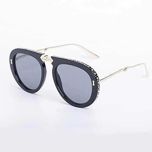 BANLV Gafas de Sol de Diamante para Mujer Gafas de Sol Plegables para Mujer