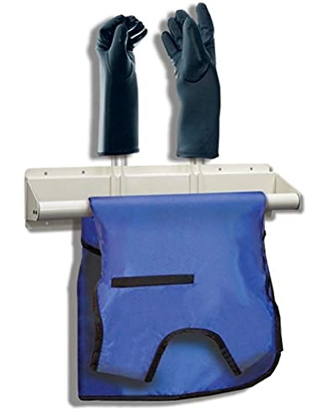Veterinary Wall Mount X-Ray Apron and 2 Glove Rack