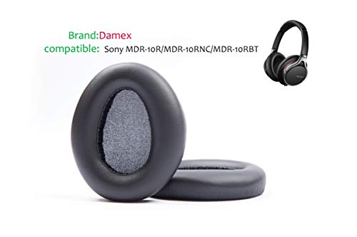 Damex Headphones Replacement Ear Pads for Sony MDR-10R,Compatible with MDR-10RNC, MDR-10RBT (Black)
