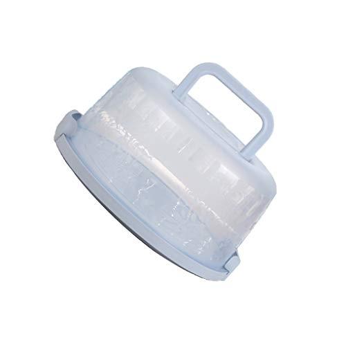 GFCGFGDRG Ronda de plástico Cake Box Portador de Almacenamiento de repostería de...