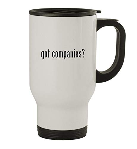 got companies? - 14oz Stainless Steel Travel Mug, White