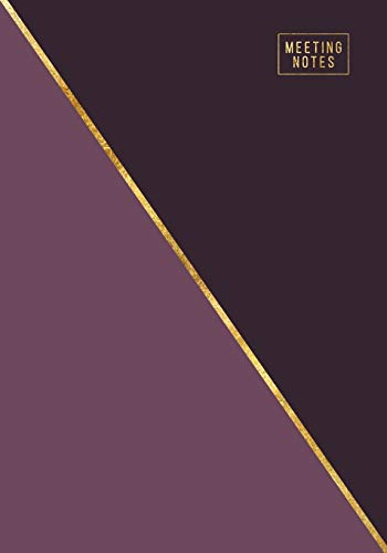 Meeting Notes: Weekly and Monthly Business Agenda Organizer with Action Items - To Do Lists - Notes   Abstract Purple & Gold (Office Organization Notebooks)