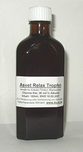 Asvet 100ml Relax Tropfen, Aphrodisiaca Konzentrat ohne Chemie, handgemacht, 100% vegan und natürlich !