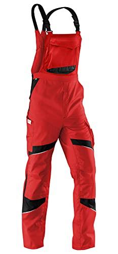 KÜBLER KÜBLER ACTIVIQ Arbeitslatzhose rot, Größe 29, Herren-Arbeitslatzhose aus Mischgewebe, Arbeitslatzhose mit Knieschutztaschen nach EN 14404, leichte Arbeitslatzhose von KÜBLER Workwear