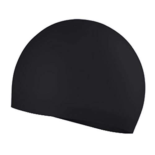 Badekappe Unisex Badkappen Silikon elastische Nahtlose einfarbige Männer Qualität Schwimmen Hut für Schwimmbad Strand Surfen(B,Free)