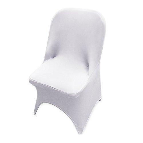 10 x weiß Stuhlhussen Stretch Universell Stuhlüberzug Stuhlbezug Hussen Stuhlüberwurf Hochzeit Party Event