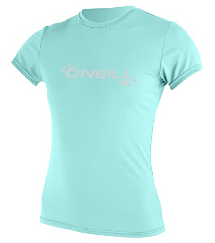 O'Neill Women's Basic Skins Upf 50+ Short Sleeve Sun Shirt, Seaglass, Small