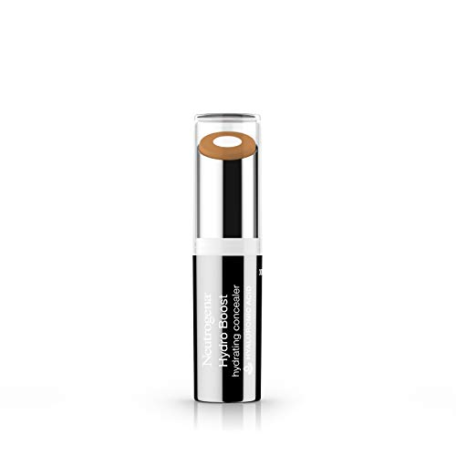 Neutrogena Hydro Boost Hydrating Concealer Stick for Dry Skin, Oil-Free, Lightweight, Non-Greasy and Non-Comedogenic Cover-Up Makeup with Hyaluronic Acid, 50 Deep, 0.12 Oz