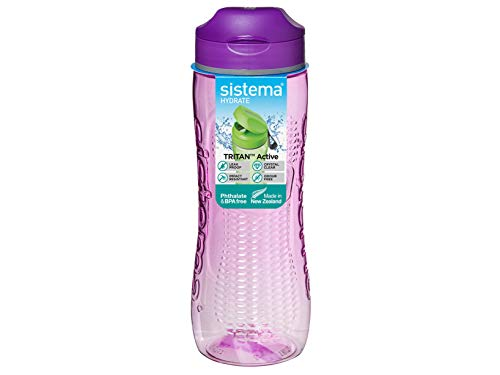 Sistema Tritan Active Sports Water Bottle | 800 ml | Leakproof Water Bottle | BPA-Free | Assorted Colours