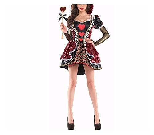 WON-Derland Qu-Een de H-EARTS Disfraz de Halloween Disfraz de Halloween Para Mujeres Halloween Party Cosplay Disfraces Adulto (Color : Alice in Wonderland, Size : M)