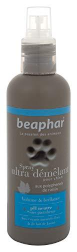 BEAPHAR – Spray Ultra-démêlant pour chien – Extraits naturels d'Iris, de Lait de Karité et du polyphenol de raisin – Démêle, hydrate, adoucit, protège le poil – Prêt à l'emploi, sans rinçage – 200 ml