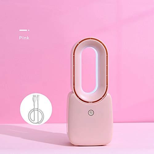 AYXC Tischventilator Ventilator Rotorlos,LED Dimmbar Moderne Kreative USB-Aufladung Elektrolüfter,geeignet Für Büro, Schlafzimmer, Wohnzimmer Ventilator Ohne Flügel Leise 3 Farben
