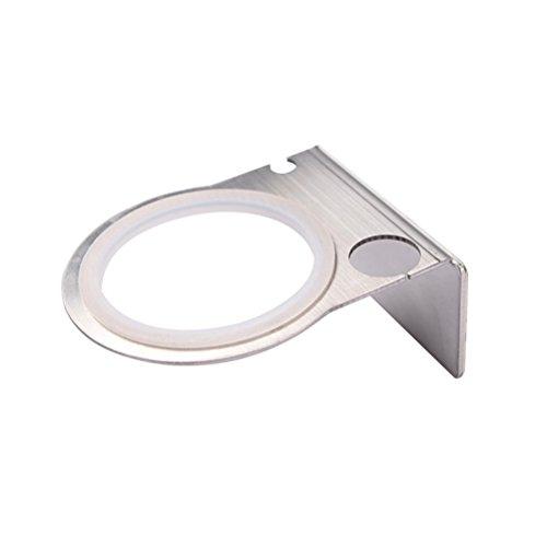 OUNONA Soporte para secador de Pelo montado en la Pared Rack Stainless Steel (Silver)
