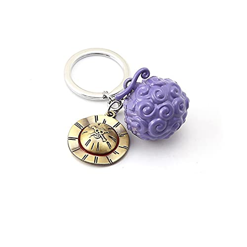 Ace Law Devil Fruit Keychain For Anime One Piece Fans Keyring Holder Cosplay Accessories Charm Gifts HAH1866
