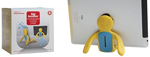 Mr & Mrs Fragrance JBB009 Big Brother Porte iPhone-iPad avec diffuseur de Parfum Jaune et Bleu Senteur Ocean Breeze