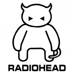 Radiohead Logo Decal Sticker, H 6 By L 6 Inches, White, Black, Silver, Red, Yellow, Blue, or Orange