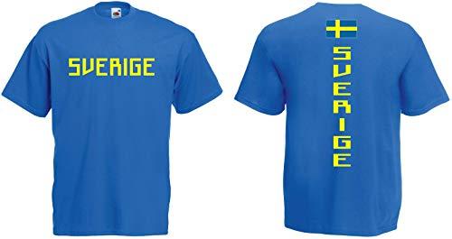 Schweden T-Shirt Trikot-Look S-XXXL