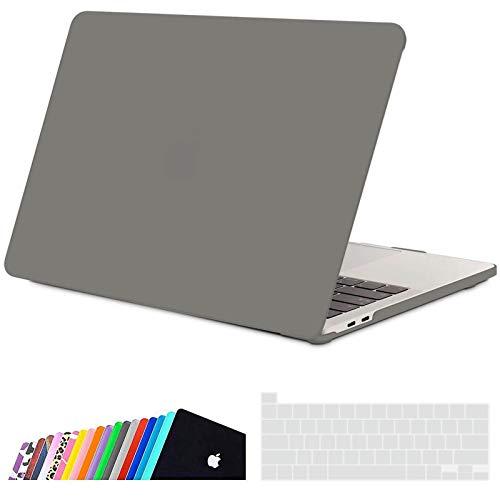 iNeseon Custodia per MacBook PRO 13 2020, Plastica Case Rigida Protettiva e Cover Tastieracon Touch Bar A2338(M1) A2251 A2289, Grigio