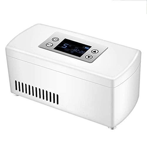 Enfriador De Nevera para Medicamentos para Viajes En Automóvil A Casa, Caja Refrigerada De Insulina Portátil Pantalla LCD Recargable 2-8 ℃ Enfriador De Insulina para Automóvil Mini Refrigerador