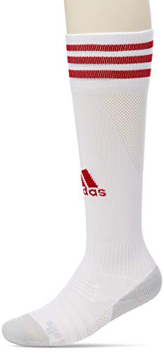 adidas Adi Sock 18 Calcetines, Unisex Adulto, White/Power Red, 4042