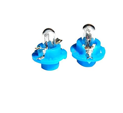 10 bombillas halógenas (1 caja) B8.4D 1,2W BLUE 12V