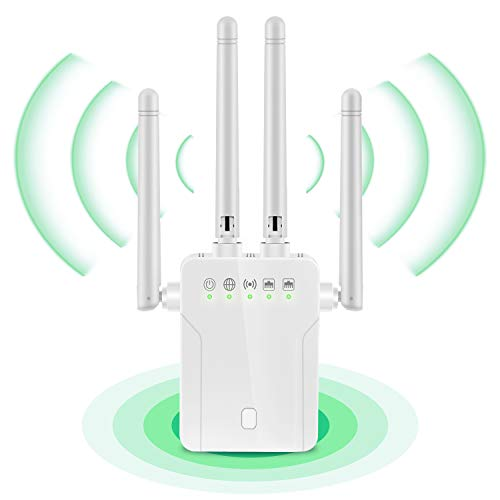 1200Mbps WiFi Range Extender WiFi Booster 2.4GHz/5GHz Dual Band WiFi Repeater...