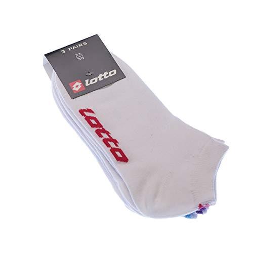 Socke Kurzsocken - 3 pack - ohne Frotte - Coton - Blanc - 27/30