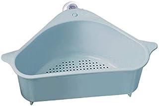 Drain Shelf Sink, Outivity Triangular Sink Basket Storage Rack Sucker, Sink Sponge Holder for Kitchen Bathroom Support Cor...