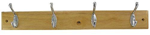 Interges kapstok, 4 koppen, gelakt hout, 55,5 x 7,5 x 17 cm