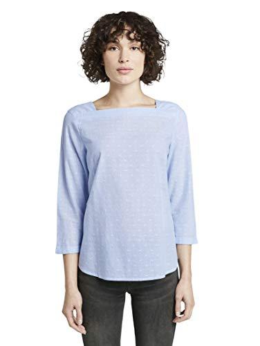 TOM TAILOR voor vrouwen blouses, shirts & overhemden gestreepte blouse met boothals