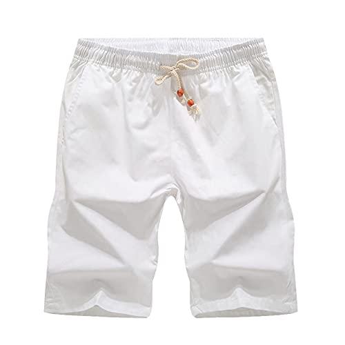 ESAILQ Herren Cargo Hose Shorts Sommer Kurze Hose Baumwolle,Ripstop Shorts,Sweatshorts Kurze Hose Jogginghose