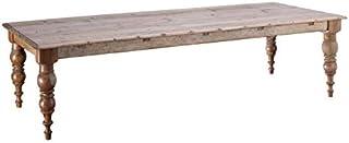 Tousmesmeubles Table de Repas rectangulaire 300 cm Bois Naturel - Kenitra - L 300 x l 110 x H 77 - Neuf