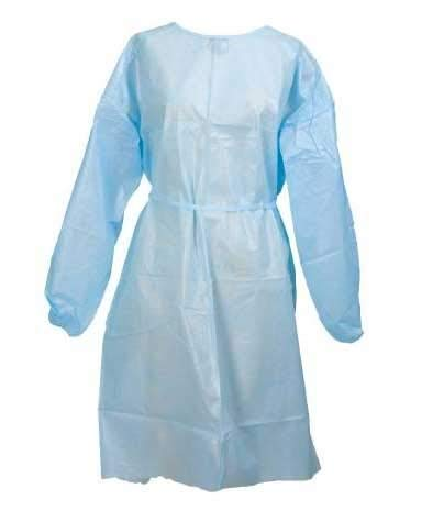 Direct Tech (200-Pack) Protective Medical Isolation Gown, Disposable Level 2 Certified PPE, Made in USA