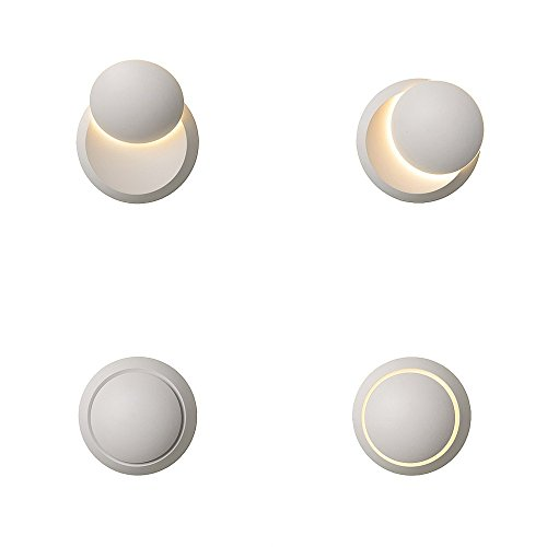 Brumberg LED Wandleuchte mit einstellbaren Lichtaustritt Weiss LED Wandlampe