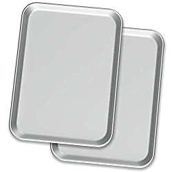 2 sheet pans on white background