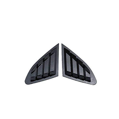 NIUASH Accesorios de Coche Cubierta de persianas de ventilación Lateral de Ventana Trasera, Apta para Chevrolet Malibu 2016-2019