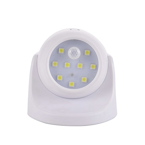 Motion Sensor Light,Faber3 Cordless Battery-Powered LED Night Light, Stick-anywhere Closet Lights Stair Lights, Safe Lights Wall Light for Hallway, Bathroom, Bedroom, Kitchen (White)