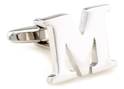 """Teroon Unisex-Manschettenknopf Buchstaben Initialen """"M"""" 608587"""