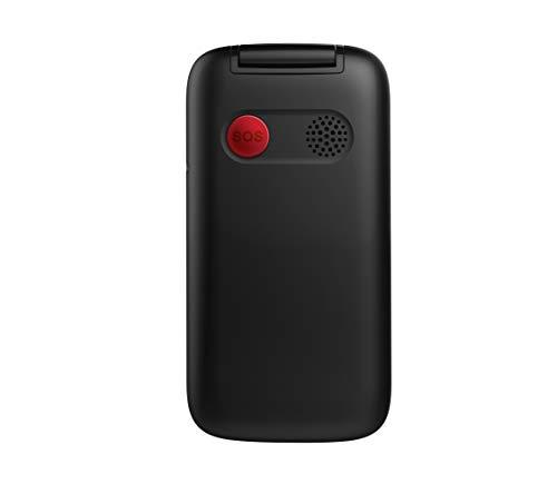 Wiko F300 Téléphone portable débloqué à clapet 2G (Ecran 2,8 pouces - Batterie 1200 mAh - Bouton SOS - Socle de chargement - Grandes touches) Black