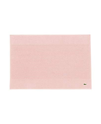 """Lacoste Legend 100% Supima Cotton Towel, 650 GSM, 21"""" W x 31"""" L Bath Mat, Blossom Pink"""