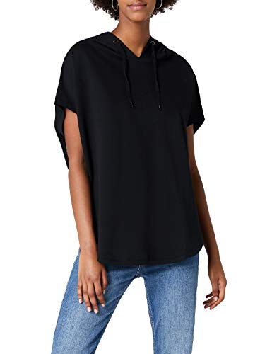 Urban Classics Damen Sweatshirt Ladies Sleeveless Terry Hoody schwarz (Schwarz) X-Large
