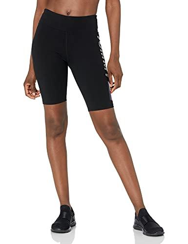 Tommy Hilfiger Women's High Rise Biker Short, Black, Small