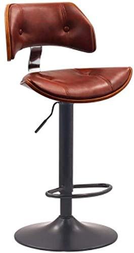 Silla de escritorio para sofá, bar, silla delantera, silla alta, silla giratoria, silla KTV, respaldo de madera maciza, silla de bar, silla elevadora, taburete de bar (color: I)-L