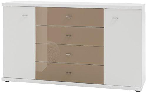 Wiemann 730603 Miro Kombikommode, Holz, alpinweiß, 86 x 42 x 149 cm, montiert