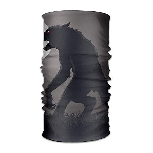 Jxrodekz Hombre lobo en la oscuridad Moda al aire libre Cien cambios Pañuelo de cabeza multifuncional original