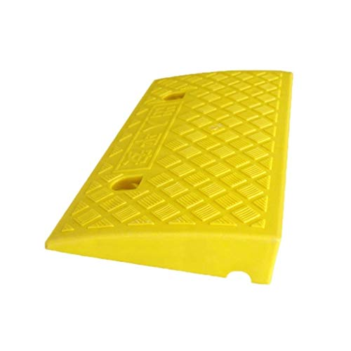 Outdoor Ramps Mat, Bicycle Scooter Uphill Mat Plastic Antislip afrijkleppen Thuis 7cm High Step Mat rolstoel Threshold Ramps Curb Ramps (Color : Yellow)
