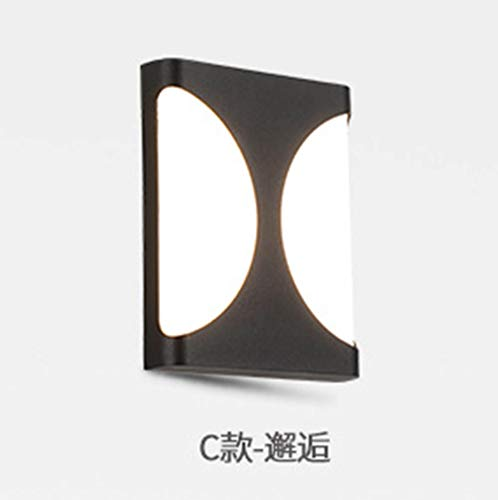 MJSM Light Wandlamp, buitenverlichting, waterdicht, creatief, eenvoudige terras, LED hal, trappenhuis, hotel balkon, deel C - 1356_12W wit licht