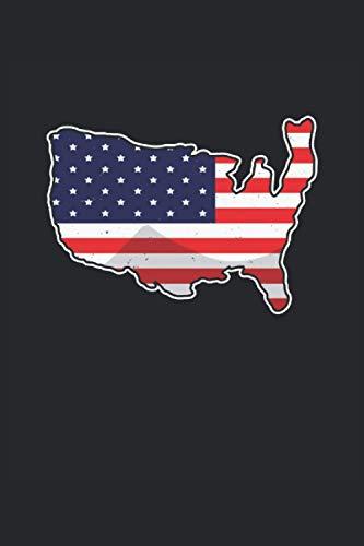 Mapa de estados unidos: Libreta de la bandera de los Estados Unidos con regalos de América (formato A5, 15, 24 x 22, 86 cm, 120 páginas)